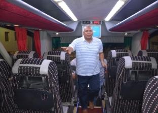محافظ الوادى الجديد يدشن حافلة جديدة لنقل الركاب