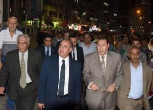 محافظ الإسكندرية يتفقد الشوارع في حي المنتزه أول قبل العيد