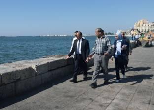 الإسكندرية تبدأ تجميل الجزيرة الوسطى في كوبري ستانلي