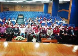 طلاب جامعة طنطا يزورون ميناء غرب بورسعيد