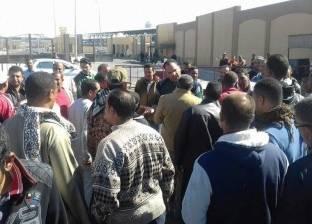 """وقفة لمؤقتي """"تعليم المنيا"""" أمام ديوان عام المحافظة للمطالبة بالتثبيت"""