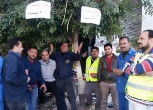 إضراب عمال في شركة المقاولون العرب بطنطا