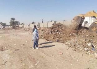 رفع 720 طن مخلفات أتربة على شوارع مدينة بني سويف