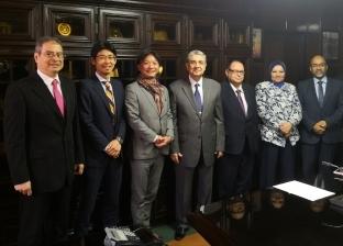 وزير الكهرباء يبحث مع ممثل البنك الياباني للتعاون الدولي سبل التعاون