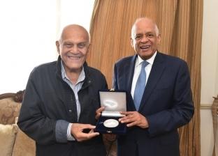 علي عبدالعال يلتقي مجدي يعقوب في مجلس النواب