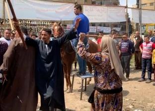 بخيول راقصة ومزمار.. أهالي باب الشعرية يحتفون بالاستفتاء
