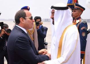 """""""الرئاسة"""": السيسي وبن زايد اتفقا على استمرار دفع أواصر التعاون المشترك"""