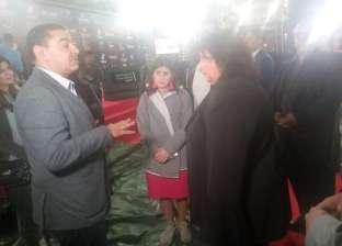 """وزيرة الثقافة تصل إلى الأوبرا لتفقد تجهيزات افتتاح """"القاهرة السينمائي"""""""