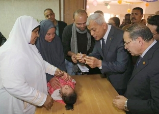 محافظ المنوفية يتفقد فعاليات الحملة القومية للتطعيم ضد شلل الأطفال