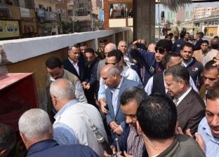 وزير النقل يختبر منظومة الإطفاء بمحطة سكة حديد بني سويف