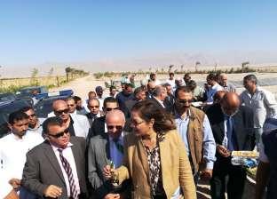 وزيرة التخطيط تتفقد مزرعة جهاز التعمير بطور سيناء