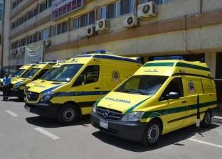 """""""الصحة"""" تدفع بـ10 سيارات إسعاف لموقع حادث انهيار عقار المنصورة"""
