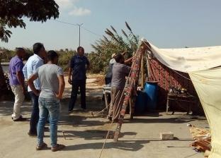 حي العامرية ثان بالإسكندرية يشن حملة لإزالة التعديات على الطريق العام