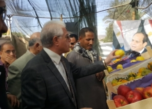 بالصور| محافظ جنوب سيناء يفتتح منفذ بيع الخضروات بأسعار مخفضة