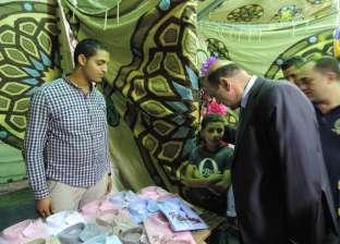 مدير أمن دمياط يفتتح معرض المستلزمات المدرسية بنادي ضباط الشرطة