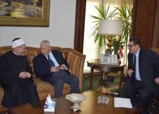 """رئيس """"الأعلى لتنظيم الإعلام"""" يلتقي مفتي الجمهورية"""