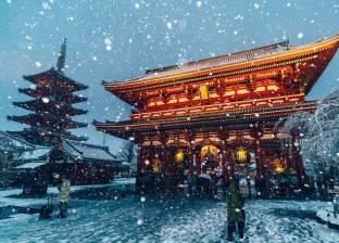"""بالصور  """"طوكيو تحت الثلج"""".. مصور يستغل الظروف الجوية في لقطات رائعة"""