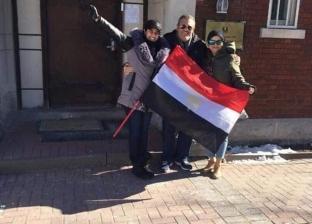 """""""الهجرة"""" تنشر صورا للجالية المصرية في كندا أثناء التصويت"""