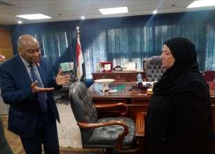 بالصور.. تكريم أسرة الشهيد عمر القاضي بهيئة قضايا الدولة