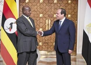 «السيسى» لـ«موسيفينى»: مصر حريصة على تحقيق مصالح جميع دول حوض النيل دون الإضرار بأى طرف