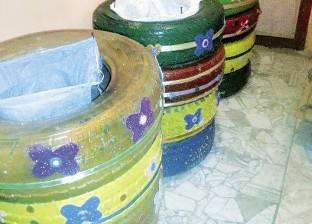 شباب «بنى عبيد» يقضون  على القمامة بـ«عَجل» السيارات