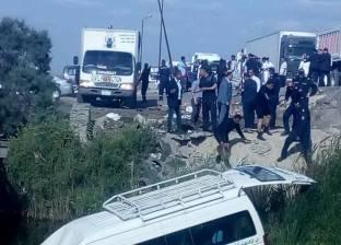 إصابة 13 شخصا في انقلاب ميكروباص بالساحل الشمالي