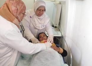 """قافلة طبية تفحص 247 حالة مرضية بـ""""وادي ميعر"""" في طور سيناء"""