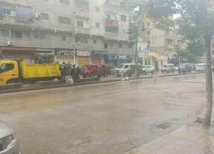 هطول أمطار على سواحل محافظة دمياط