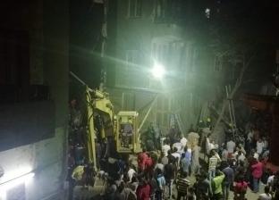 إصابة 6 أشخاص في انهيار عقار بحدائق القبة
