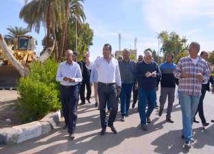 محافظ الأقصر يتفقد محيط مطار المحافظة الدولي استعدادا للموسم السياحي