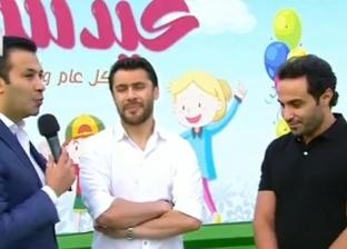 """""""العميد"""" و""""الواد سيد الشحات"""" يحتفلان مع أبناء الشهداء بالعيد"""