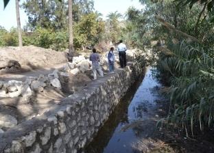 بالصور| بدء تبطين بعض ترع الري في بلطيم للحد من إهدار المياه