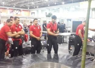 بعثة المنتخب الوطني تصل لمطار القاهرة استعدادا للمغادرة إلى سوازيلاند