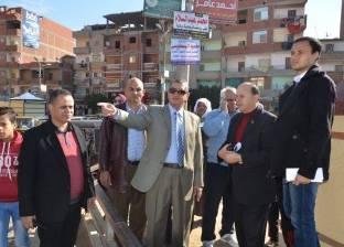 بالصور| محافظ كفرالشيخ يتابع أعمال إصلاح أعمدة الإنارة