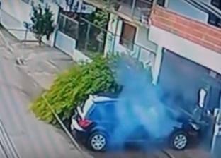 بالفيديو| لحظة نجاة راكب دراجة بأعجوبة من موت محقق