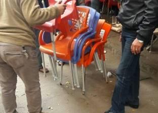 استمرار حملات إزالة التعديات على حرم الطريق في وسط الإسكندرية