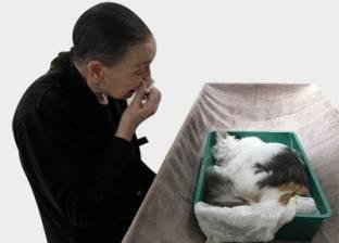 """رحلة وداع """"كلبة"""" في مراسم جنائزية قبل حرقها لإرسال روحها لمكان آمن"""