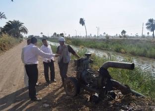 """""""غرامة 5 آلاف جنيه"""".. ضبط مزارع يروي أرضه من مياه مصرف في المنيا"""