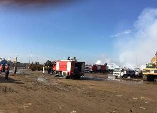 انتداب الأدلة الجنائية لمعاينة حريق جراج مدينة السينما في العمرانية