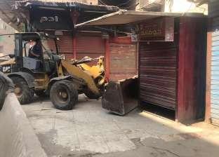 تنفيذ 345 إزالة إدارية خلال حملة مكبرة بشوارع ديرمواس بالمنيا
