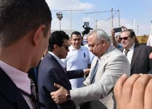 خالد سعيد يستقبل وزير الشباب والرياضة بالعاشر من رمضان