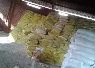 ضبط طني أسمدة زراعية مدعمة قبل بيعها في السوق السوداء بالفيوم