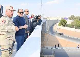 السيسي يتفقد عددا من المشروعات الجاري تنفيذها في العاصمة الإدارية