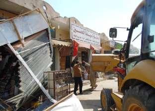 حملة لإزالة الإشغالات في أسوان