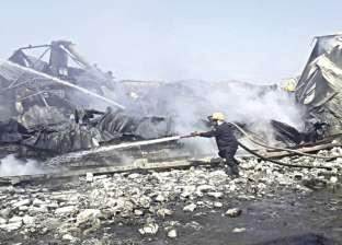 9 سيارات إطفاء للسيطرة على حريق مصنع زيوت بالإسكندرية