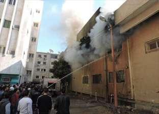 """بالصور  حريق ضخم في شركة """"إيديال"""" فرع سوهاج"""