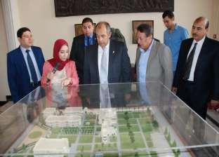 وزير الزراعة يتفقد أعمال التطوير بالمتحف الزراعى