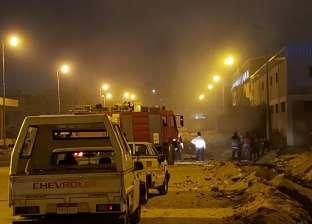 بالصور| كسر خط غاز في المنطقة الحرة بمدينة نصر