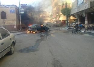 إصابة شخص إثر انفجار إطار سيارة على الطريق الحر ببنها