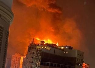 حريق في «روف» فندق بطنطا.. والدفع بـ3 سيارات مطافئ للسيطرة عليه
